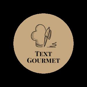 Text Gourmet Logo goldener Hintergrund dickerText