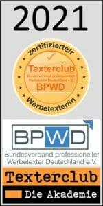 Texterclub Siegel Zertifizierter Werbetexter Thorsten Sebode 2021